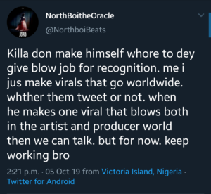Wizkid's producers Northboi and Killertunes rip each other apart on twitter