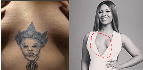 Tacha removes Davido's tattoo on her chest
