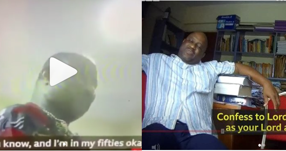 UNILAG lecturer and Pastor in Foursquare Church caught trying to sleep with 17 yr old girl (Video)