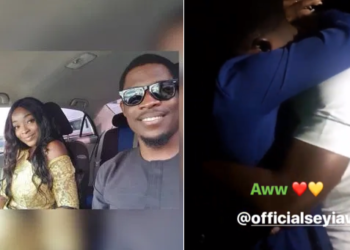 What an emotional reunion between Seyi and his girlfriend! (Video)