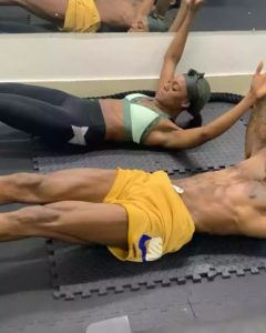 Mike and wife workout