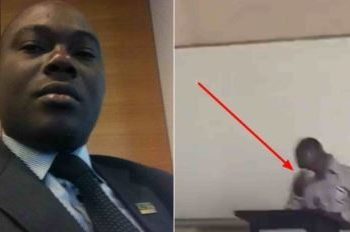 University lecturer crying in class after being exposed by BBC in sex for grade scandal (Video)