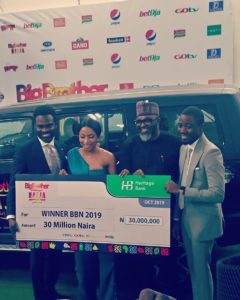 Mercy gets N30million cheque, becomes Innosson Motors Brand Ambassador (Photos)