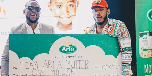 Frodd and Omashola get N1million as they brand ambassadors for Arla