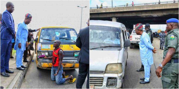 Lagos Deputy Gov., Hamzat arrests drivers for one-way drive