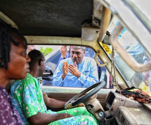 Lagos-Deputy-Gov.-Hamzat-arrests-drivers-for-one-way-drive