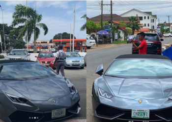 Lamborghini stolen in Germany found with Nigerian plate number in Ghana (photo)
