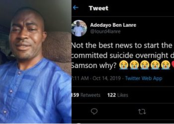 """My closest cousin committed suicide overnight due to unemployment""- Twitter user laments"