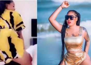 Toyin Lawani twerks hard to Wizkid's Joro song (Video)