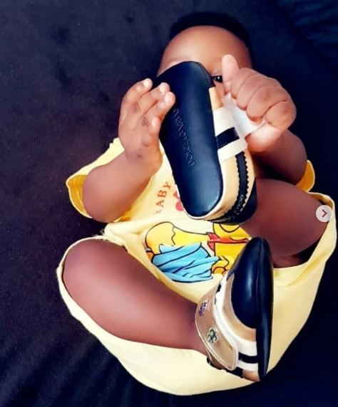 Jim Iyke shares lovely photos of himself and his second child
