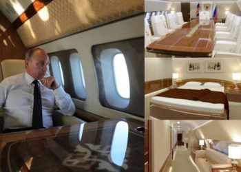 PHOTOS: Inside Russia's Vladimir Putin' $49 Million Plane With Golden Toilet, Gym