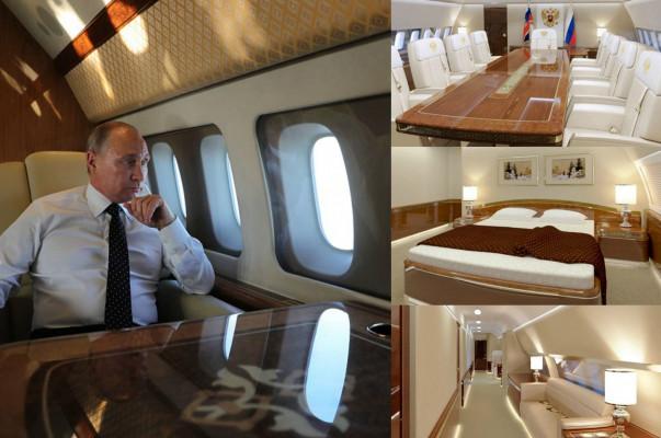 PHOTOS: Inside Russia's Vladimir Putin' $49 Million Plane With Golden Toilet, Gym