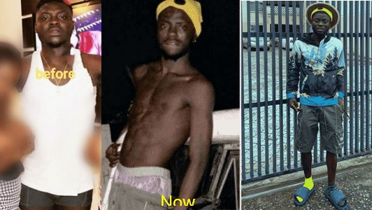 Nigerian Adult film Star, Kingtblakhoc shares his before and after photos
