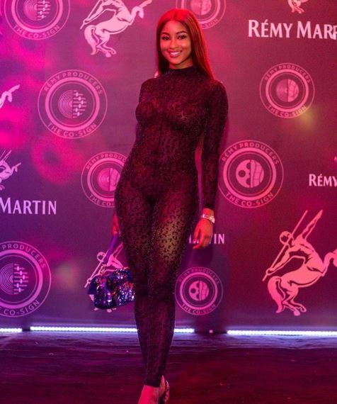 Kim Oprah see through dress