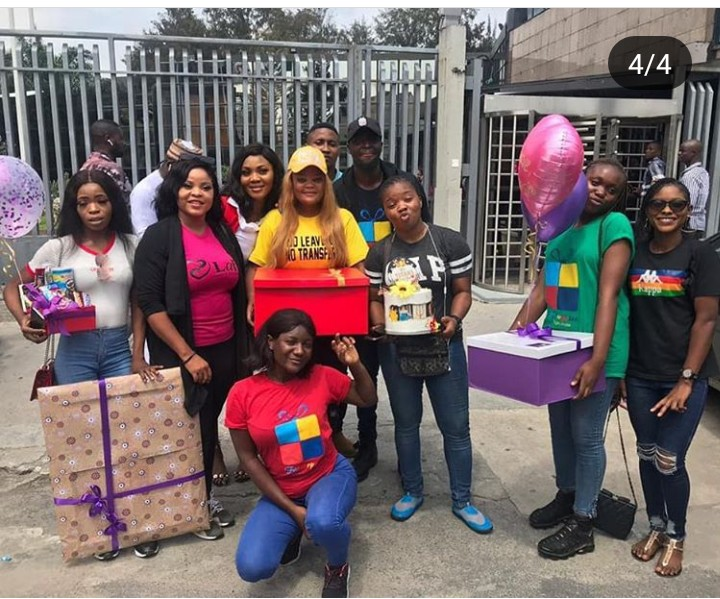 Fans Surprise Tacha with loads of lovely Gifts at Cool Fm (Photos)