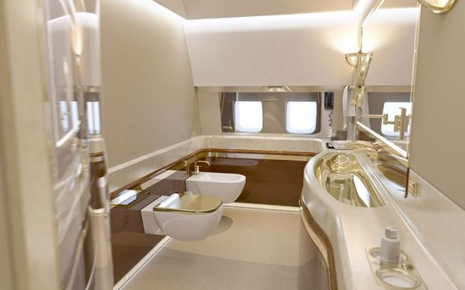 Inside Russia's Vladimir Putin' $49 Million Plane With Golden Toilet, Gym
