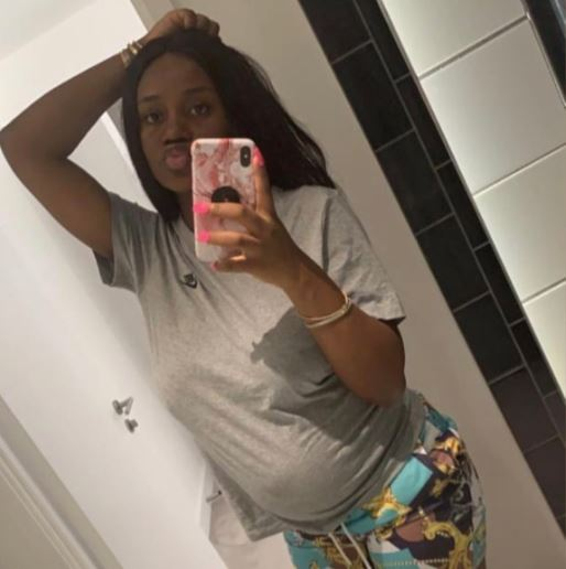 Chioma shares her post pregnancy photo hours after welcoming her son (Photo)