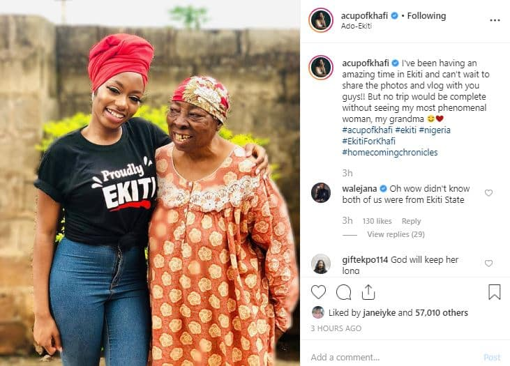 Khafi reunites with her grandmother in Ekiti State