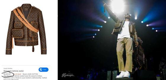 Wizkid rocked N2.3million jacket at the Starboy Fest (Video)