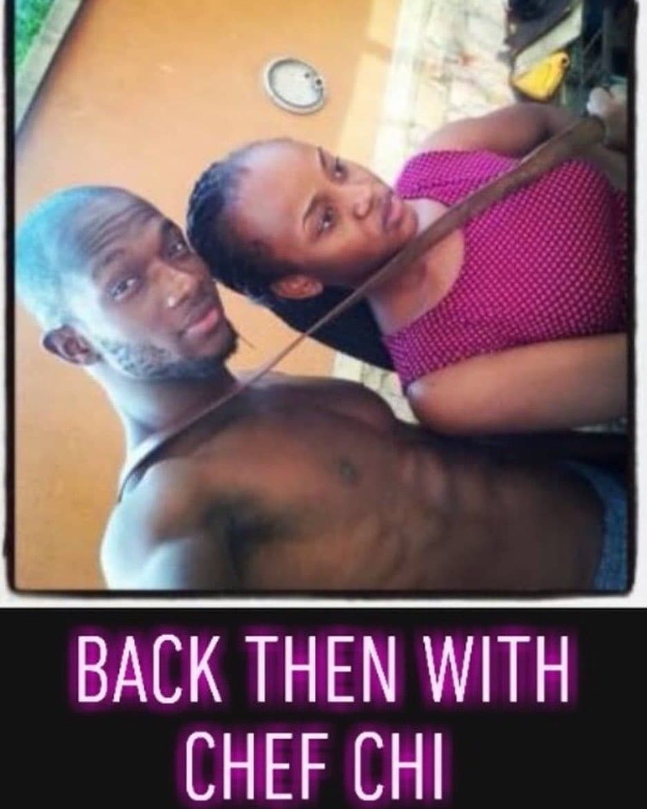 Chioma's ex boyfriend shares throwback photo of them together