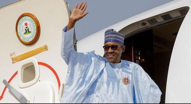 President Buhari departs Nigeria for a three-day Summit in Sochi , Russia