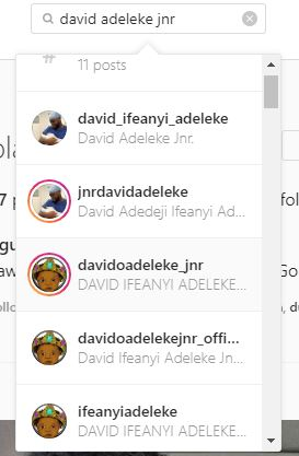 Davido's newborn baby gets over 200 fake accounts on Instagram