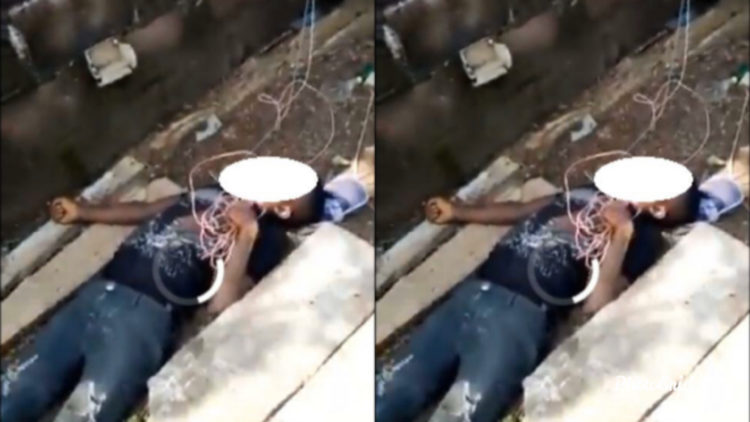 Alleged thief electrocuted while trying to steal from a church (See Video)