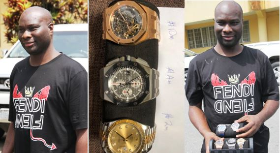 EFCC parades Mompha, N20m worth of wristwatches seized from him (Photos)