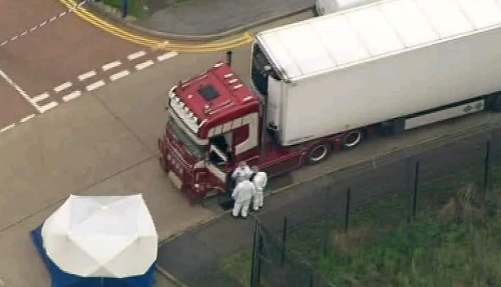 39 Frozen dead bodied found inside a refrigerated trailer