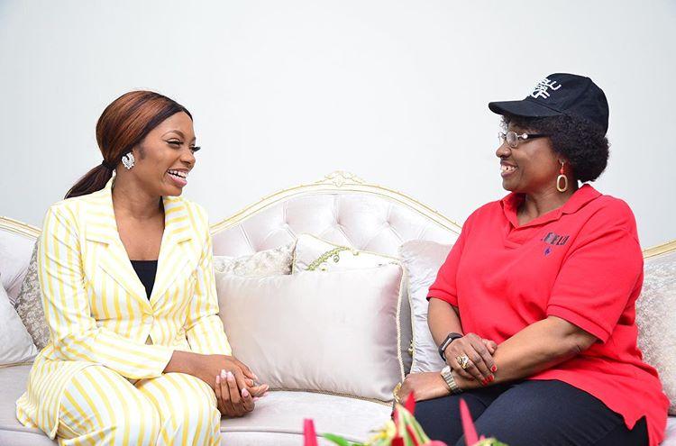 Khafi meets First Lady of Ekiti State (Photos)