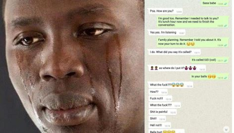Man reacts in the most hilarious way after wife tells him to take family planning injection on his manhood (Photos)
