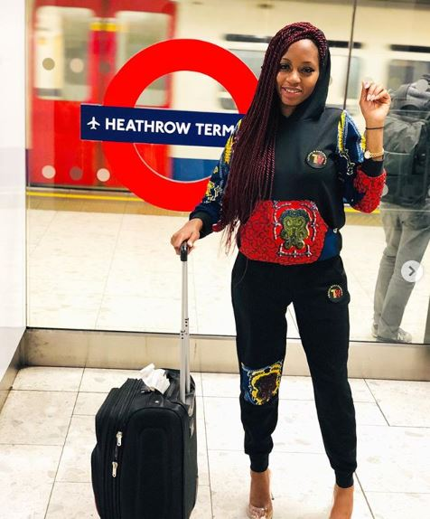 Khafi excited as she leaves Nigeria for London