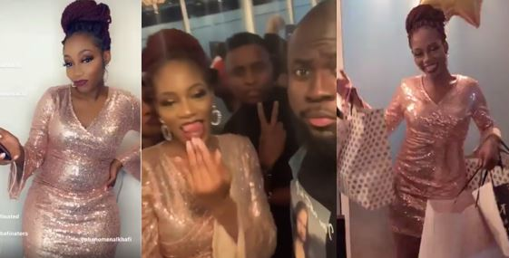 Khafi dazzles in shinny dress as she meets her fans in London (Photos and Video)