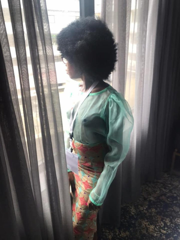 Model with tribal marks Adetutu steps out wearing nothing but a transparent top (Photos)