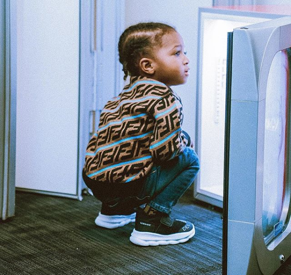 'I will do anything for you my blood' - Wizkid celebrates his 3rd son, Zion as he turns 2 (Photo)
