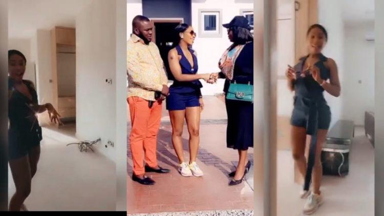 BBNaija's mercy shows off the beautiful interior of her new duplex (Video)