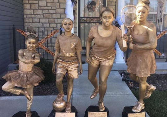Clever mom and her three kids become recreate four of their old trophies