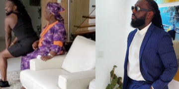 Hilarious Video of Timaya 'Twerking' for his mum