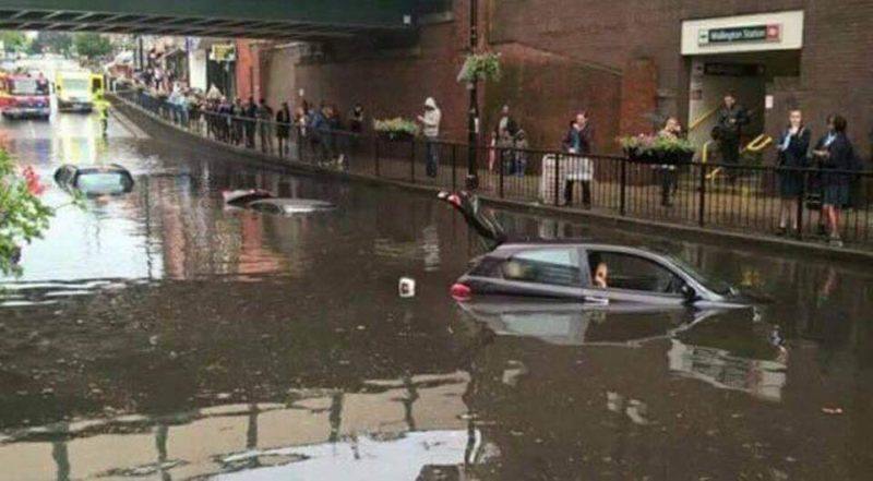 Rare Photos of massive flood in London goes viral on Social Media