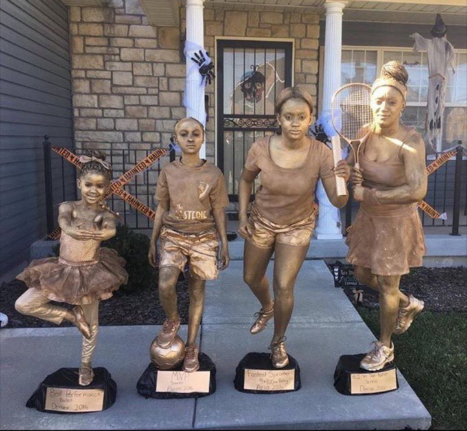 Clever mom and her three kids recreate four of their old trophies