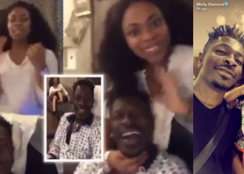 Shatta Wale reunites with is baby mama Shatta Michy, share a passionate kiss in new video