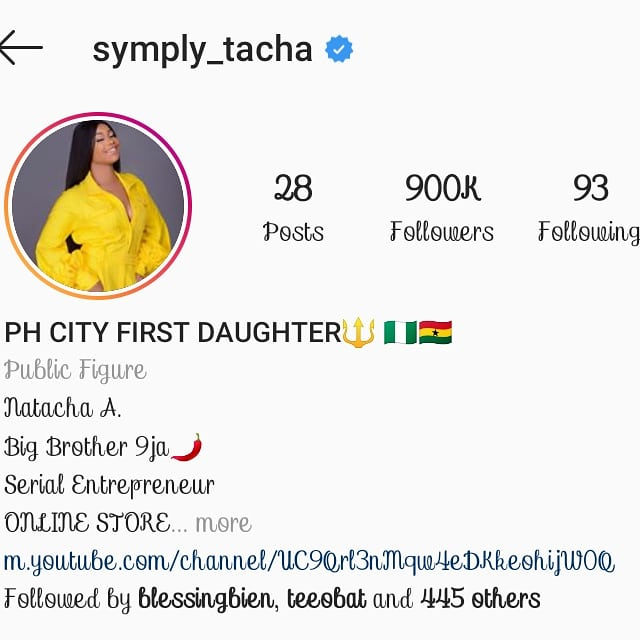 Instagram deletes Tacha's account