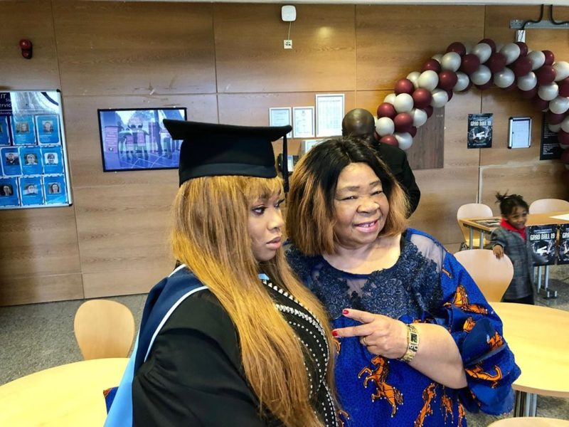 Don Jazzy's younger sister graduates with a first class (Photos)