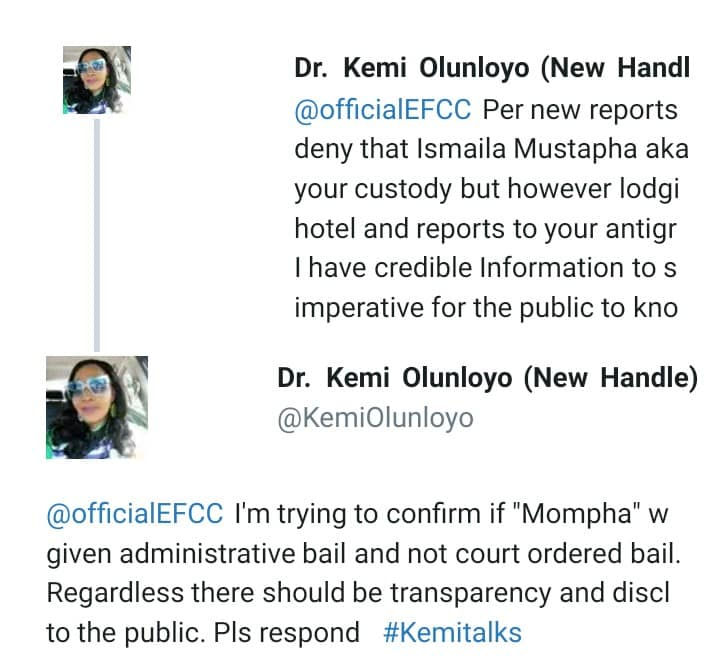 """""""Mompha is lodging in a private hotel""""- Kemi Olunloyo claims"""