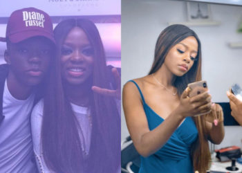 Bbnaija Diane shares rare cute photo of herself and her lookalike brother (photo)