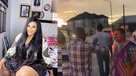 Actress Nkechi Blessing attacked by area boys at movie shoot location (video)