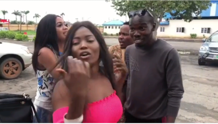 Actor Ijebu hangs out with 2 sisters who accused Davido (Photos & Video)