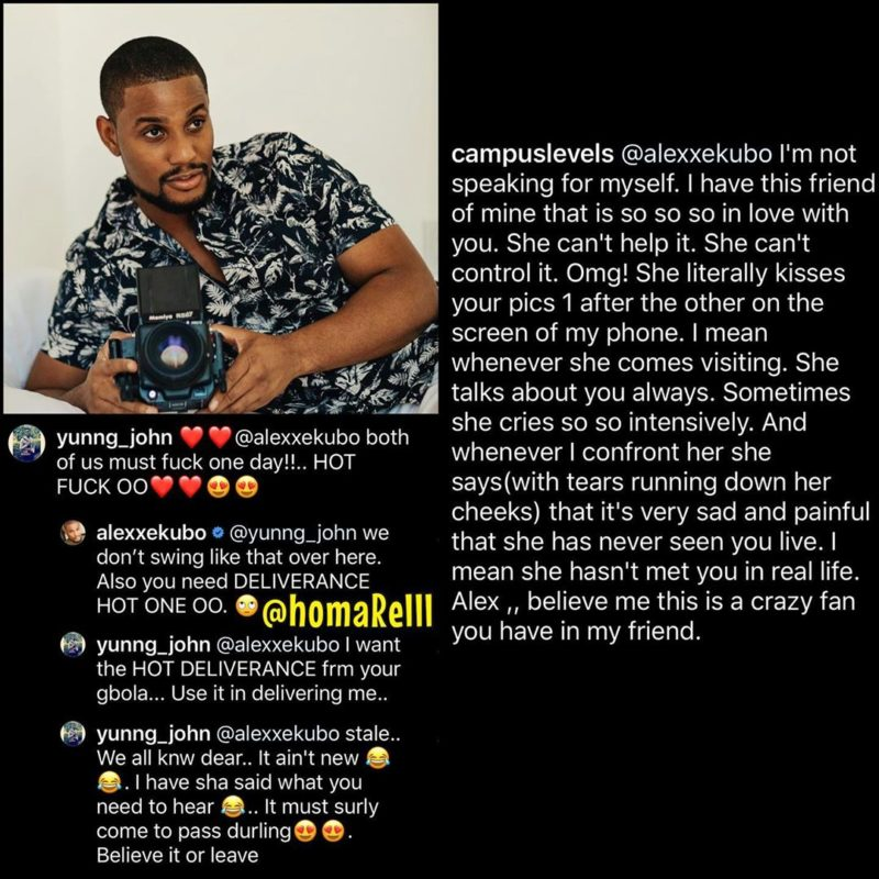 'You need serious deliverance' - Actor Alexx Ekubo replies gay man asking to sleep with him
