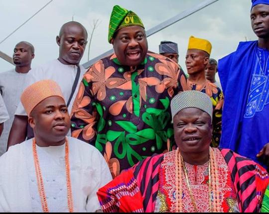Dangote, Mike and his wife Perri, Ebuka, Banky W, others attend Late Oba Oniru's final burial (Photos)