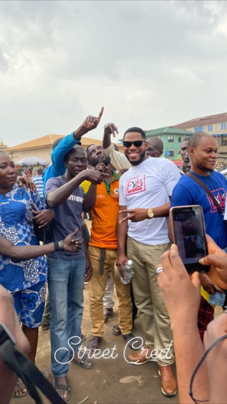 BBNaija's Frodd feeds 500 children (Photos)